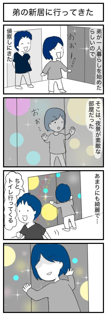 弟の新居にお呼ばれしてきた!:4コマ漫画