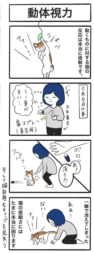 猫の動体視力:4コマ漫画