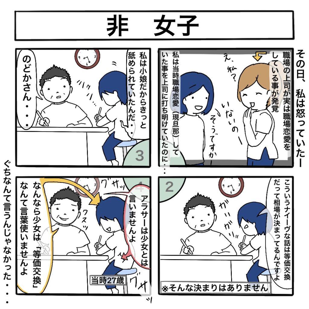 非 女子:4コマ漫画